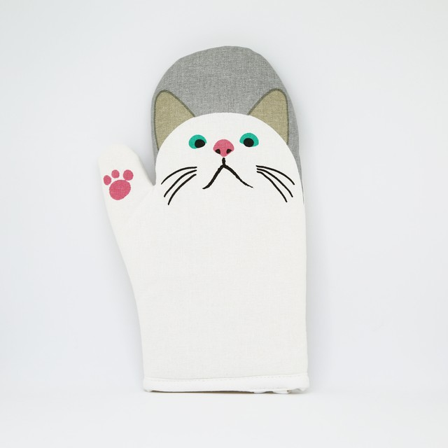 猫ミトン鍋つかみ(ターチャンはーい)