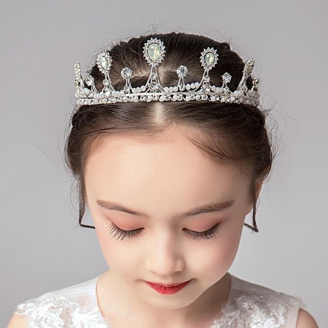 子供アクセサリー 子どもアクセサリー ヘアーアクセサリー 髪飾り ヘッドドレス キッズ 結婚式 ウェディング 入学式 入園式 発表会 入園式 卒園式 七五三 プレゼント アクセサリー 王冠 子どもドレス ホワイト 白い