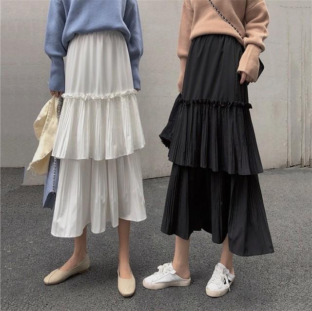 mode frill skirt 2color