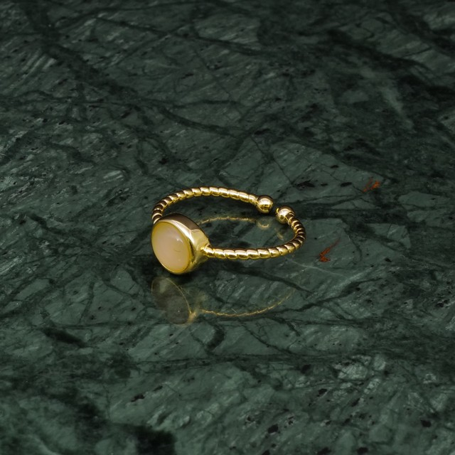 SINGLE MINI STONE RING GOLD 019