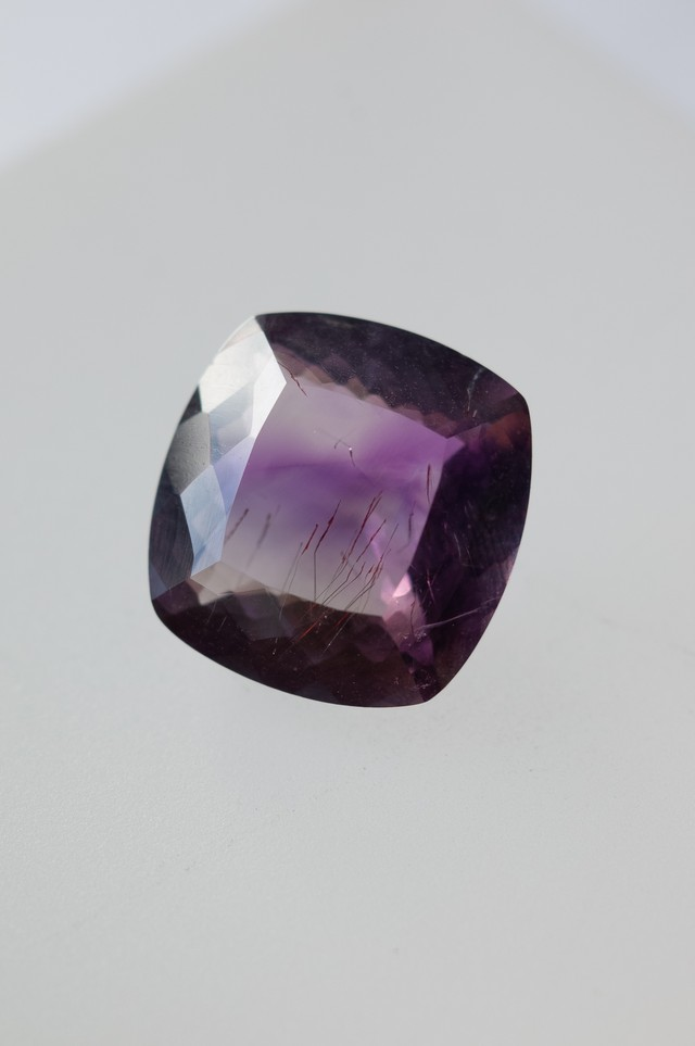 Goethite in Amethyst Faceted - 018