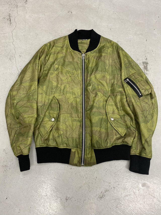 OLDPARK / FLIGHT JACKET (CAMO,Lサイズ)