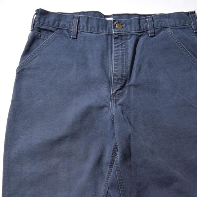 【W36】CARHARTT カーハート DUCK LONG PANT ダックロングパンツ NAVY ネイビー 36×32 400612200320