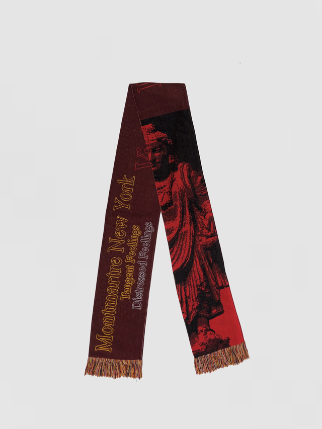 MONTMARTRE NEWYORK Red October Scarf Red S-36