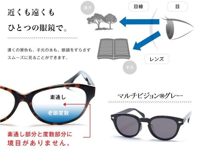 【レンズ交換】マルチビジョン グレー