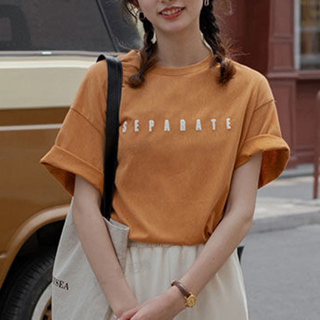 【トップス】韓国の人気爆発 カジュアル レトロ プルオーバー プリント 韓国系 Tシャツ45112783