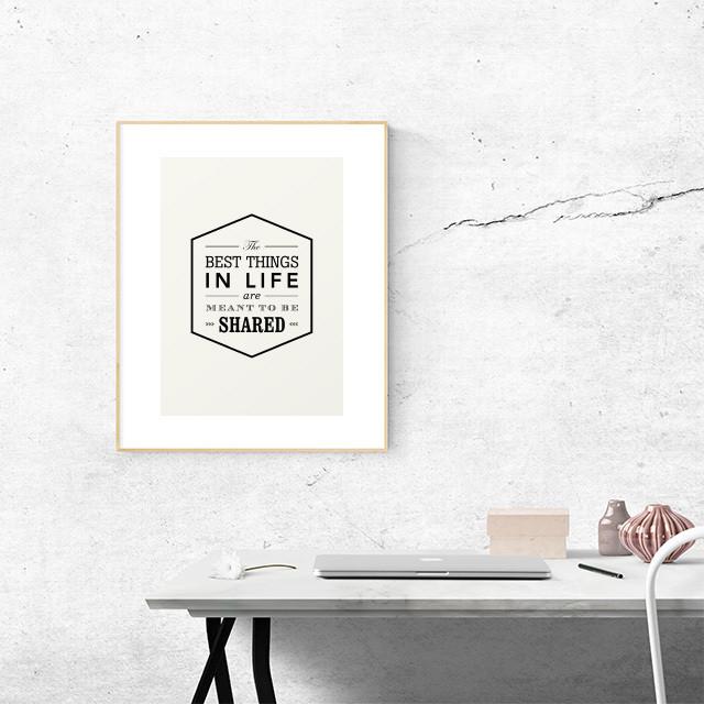 Typography ポスター