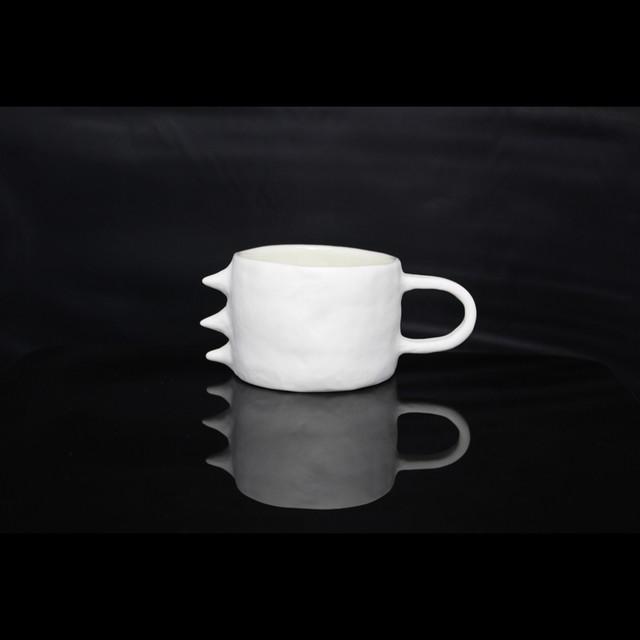 """ポップでアートな器【Kira Ni Ceramics /キラニセラミックス】""""RAGON"""" Coffee Mug Cup コーヒーマグカップ (WHT)"""