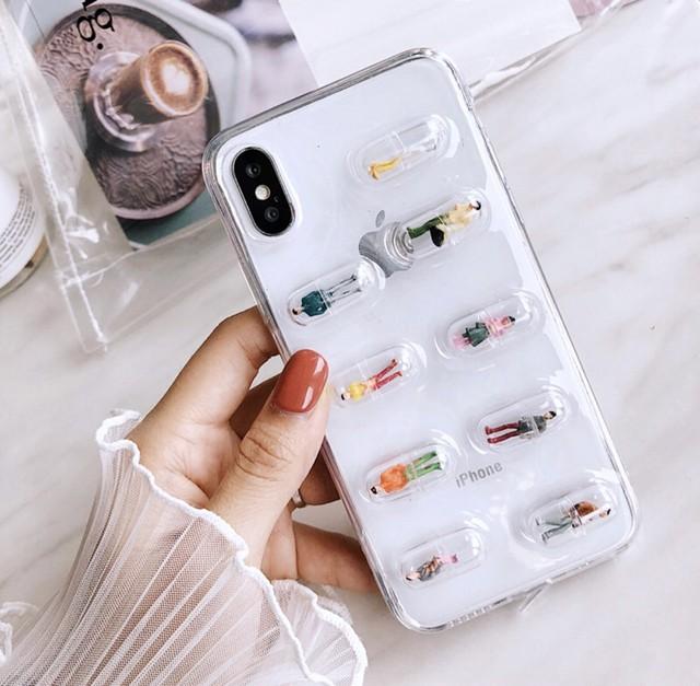 【国内発送】カプセル 人形 iphoneケース