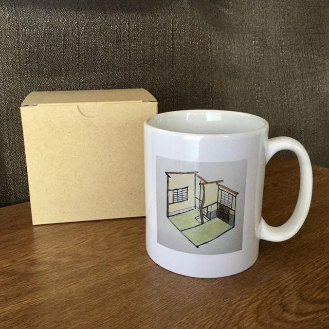 極小茶室 マグカップ(片面柄)