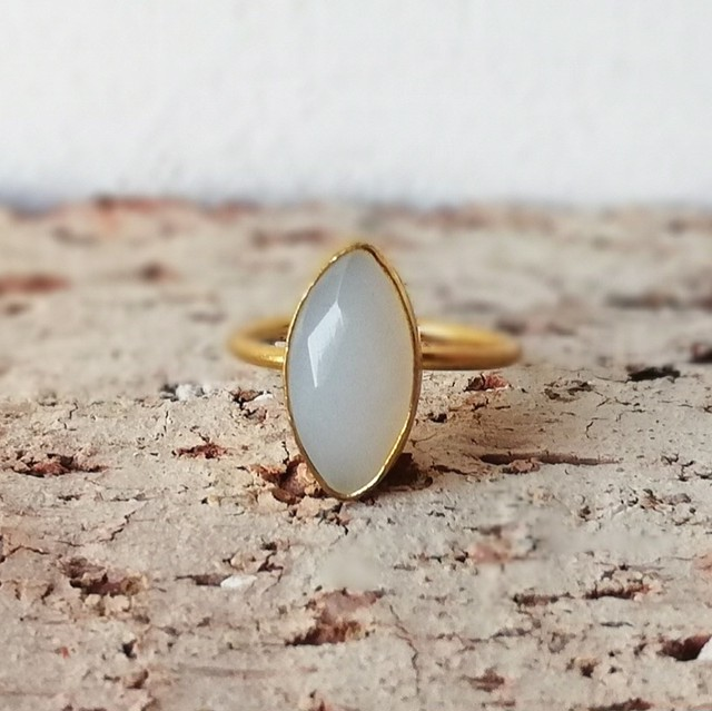 Amal ring ☆Olive gold ring