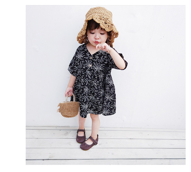 leaf motif dress baby kids