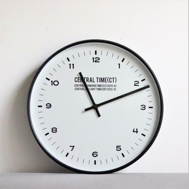 【雑貨・インテリア】壁掛け時計 Central Time【1697】