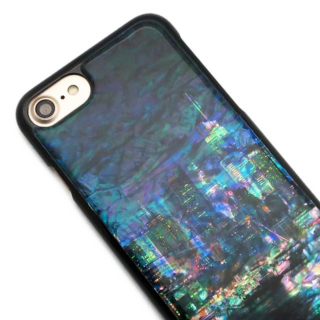 天然貝ケース★iPhone/Xperia/Galaxy スマホケース(都会の夜景)螺鈿アート