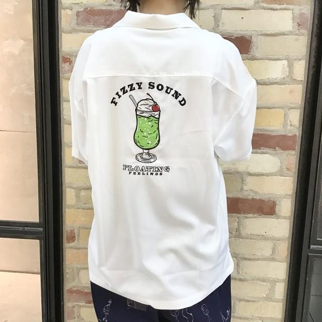 クリームソーダ刺繍半そでシャツ(8779616)