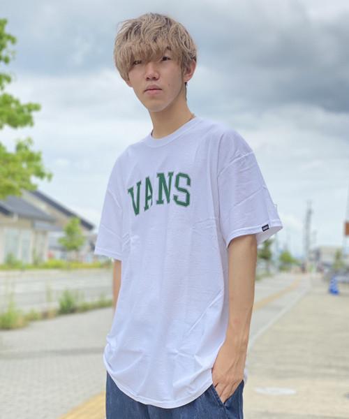 VANS (バンズ) M VANS Arch logo S/S TEE Tシャツ 121K1010300 ホワイト