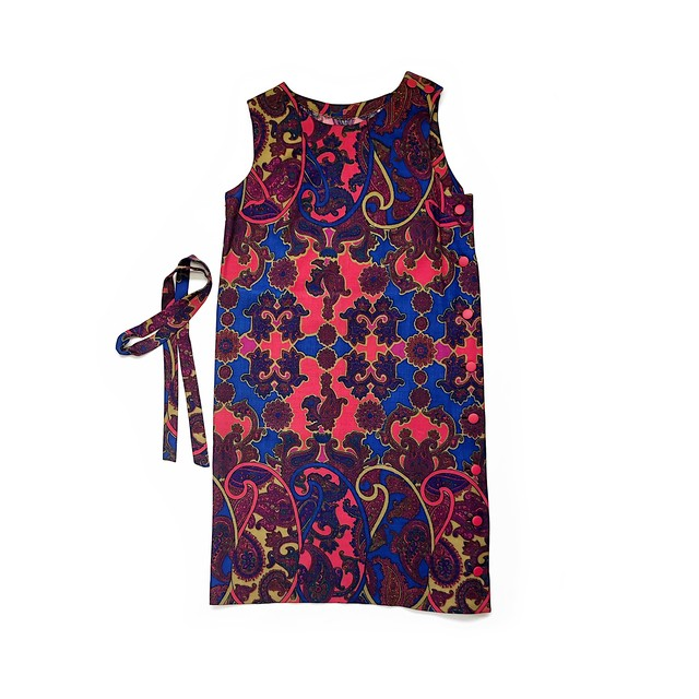 Paisley Pattern Pinafore Dress