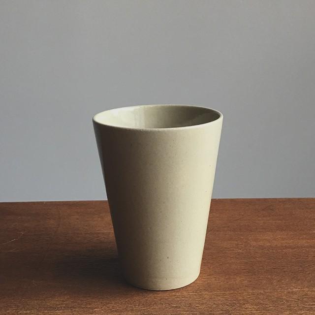 トチギマーケットオリジナル 益子焼フリーカップ 並白釉