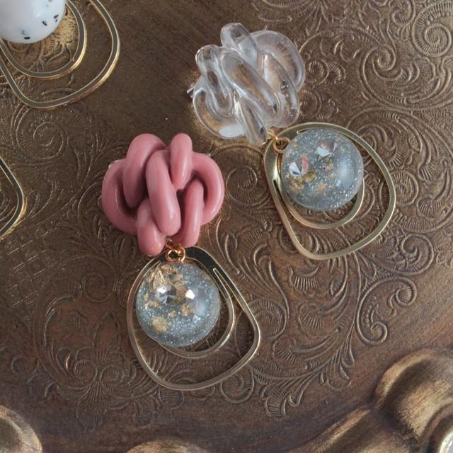 アミアミのキラリガラスボールブローチ