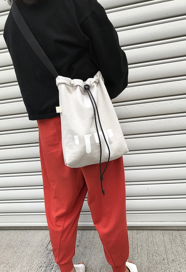 sweat sacoche bag offwhite