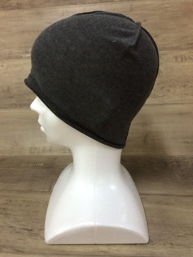 【送料無料】こころが軽くなるニット帽子amuamu|新潟の老舗ニットメーカーが考案した抗がん治療中の脱毛ストレスを軽減する機能性と豊富なデザイン NB-6057|竹炭 <オーガニックコットン インナー>