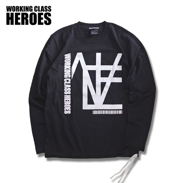 Working Class Heroes Mondrian Logo L/Sl T-shirt -Black