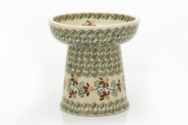 ポーランド陶器 ペットボウル 高さのあるお皿 pl-16-n