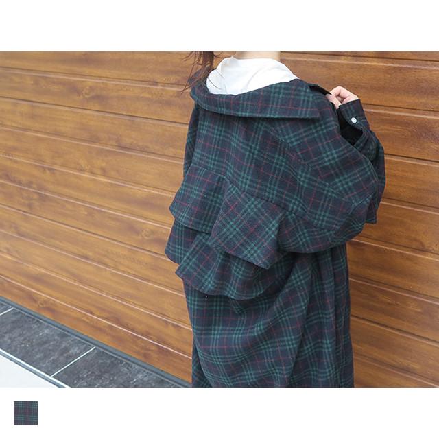 バックフリルチェックシャツ|O10156