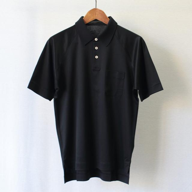 88/2スムース 半袖ラグランポロシャツ