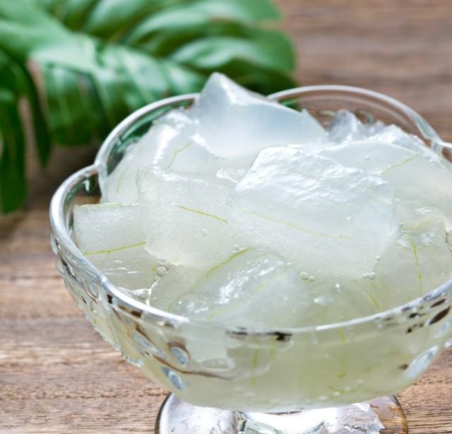 冷凍アロエベラ(皮むき、カット冷凍)500g