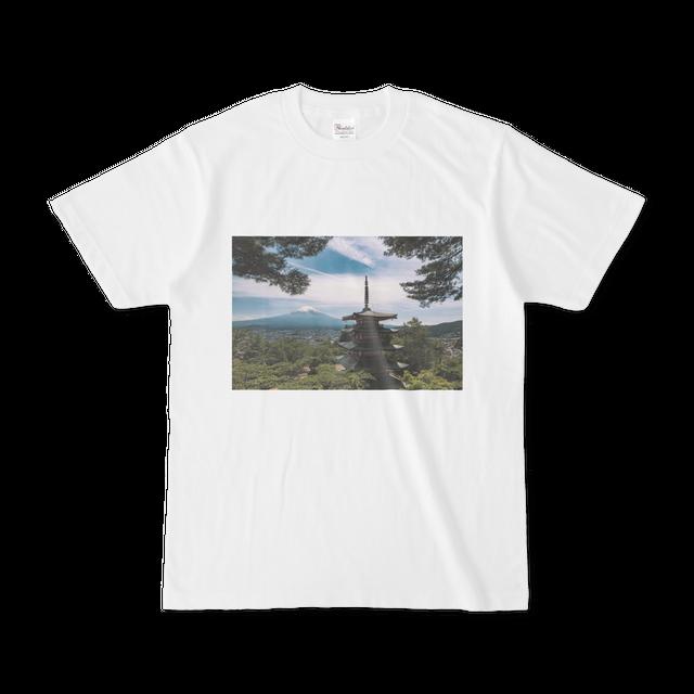 富士山とお寺  (男女兼用)