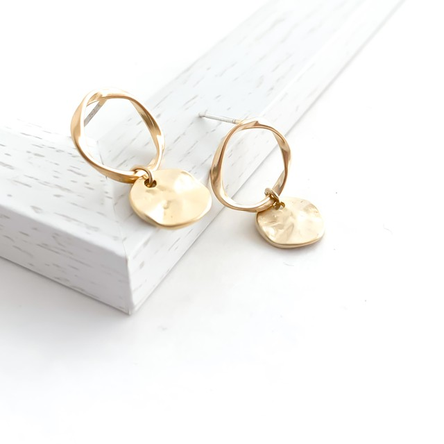 Mobius Strip Pierce(gold)/earring