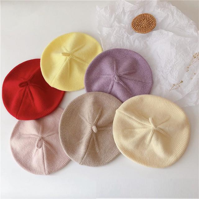 【予約商品】全6色♡ニットベレー帽