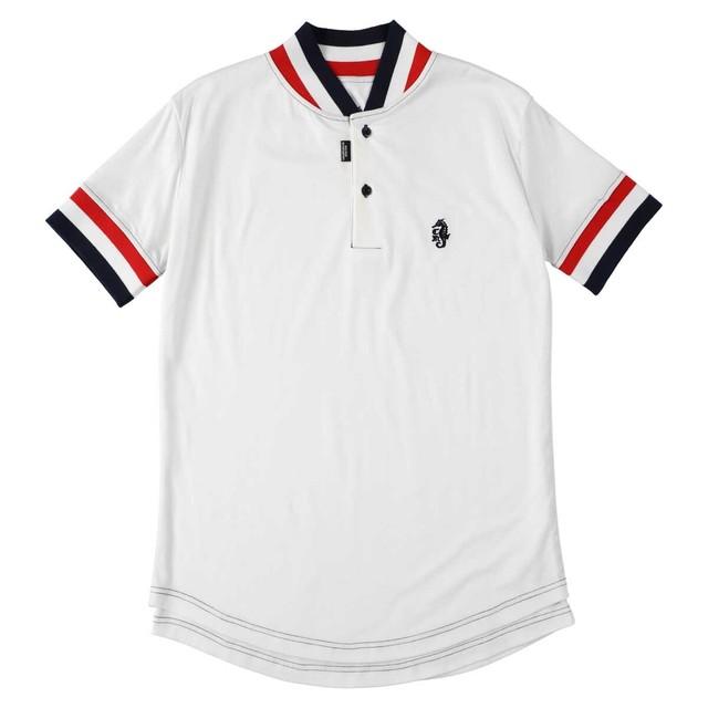 Men Collarless Polo Shirt Vanilla