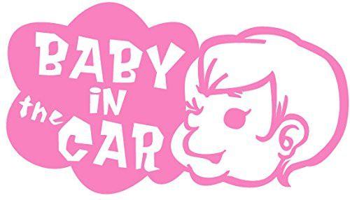 引続きセール主力商品20%OFF!  【カッティングシート】Baby in the Car  -赤ちゃんが車に乗ってます- ピンク【Baby】