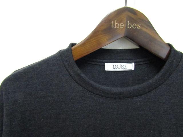 Super140'Sウォッシャブルウール ポケット付きロングTシャツ