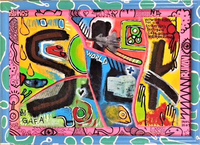 現代アート 原画 絵 絵画 アート アクリル 限定 カラフル オシャレ インテリア 美術品 ポップアート 水彩画 油彩画 MoLmot 草間彌生 バスキア バンクシー ポロック