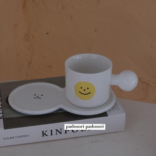 smile cup&saucer SET <p746>