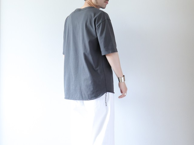 【have a good day】LOOSE S/S TEE - CHARCOAL