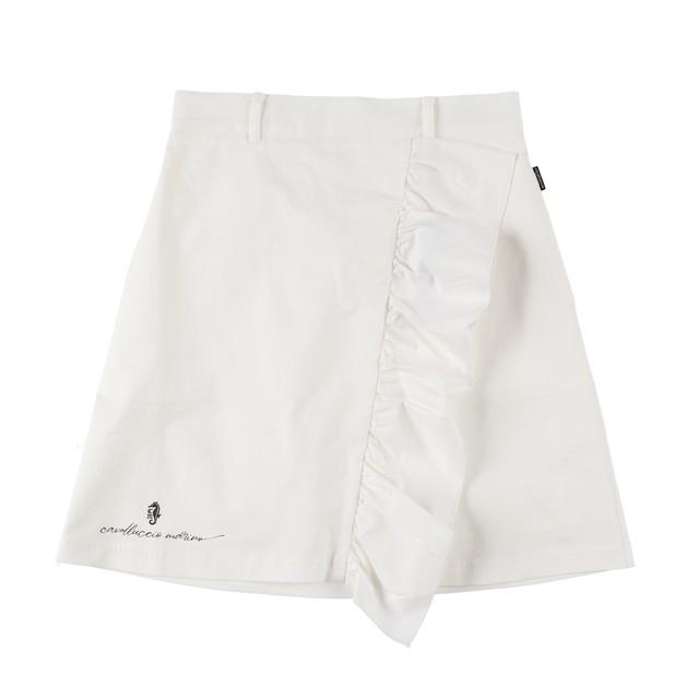 Women Ruffle Skirt Vanilla Logo