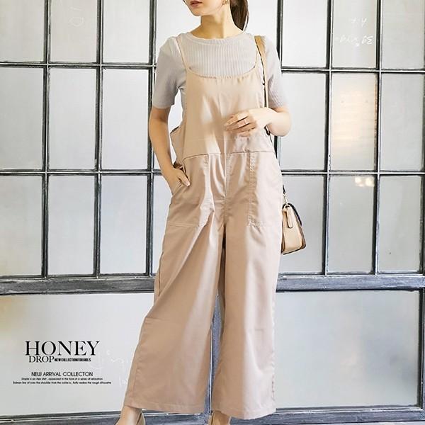 【HoneyDrop】(2020新作)配色ステッチオールインワン