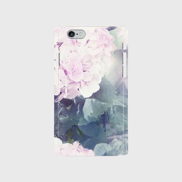 桃色紫陽花のスマホケース