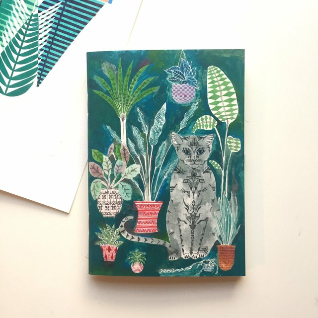 A6 Notebook - Cat and Pot Plants