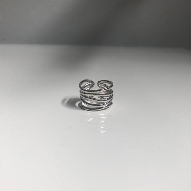 【silver925】Lots of lines ring R30
