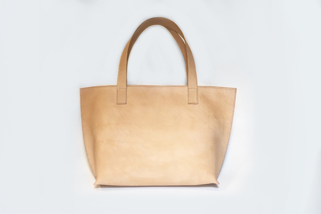 Twins Ⅱ Leather Tote Bag Natural