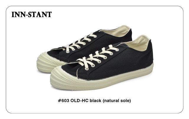 #603 OLD-HC black (natural sole) INN-STANT インスタント
