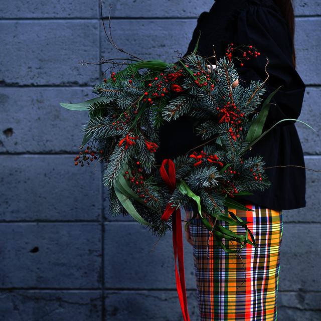 荒木利恵 Christmas wreath