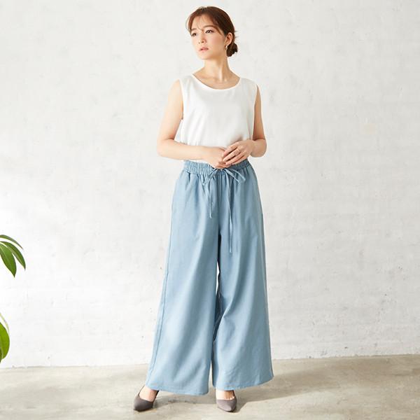 【2021春夏新作】リネンリラックスワイドパンツ/ボトム