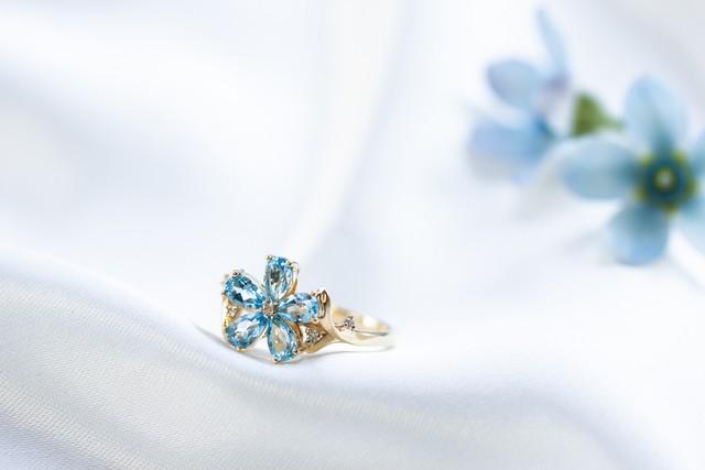 ブルースター blue star K18トパーズ ダイヤモンド リング