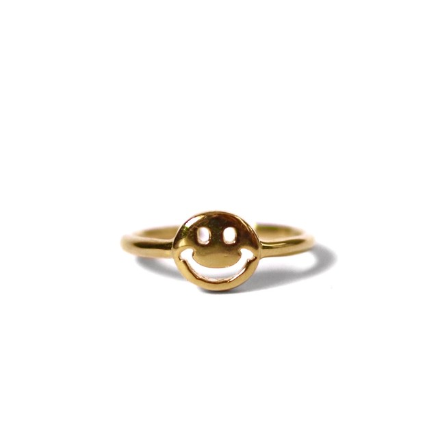 S925 smile ring【GOLD】